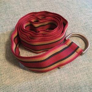 LLBean striped ribbon belt